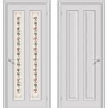 Межкомнатная дверь Пастораль белая