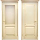 межкомнатные двери Катрин молочный с золотом фабрика Дверной Лидер