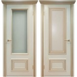 межкомнатные двери Поло молчный с золотом фабрики Дверной Лидер