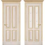 дверь Плимут слоновая кость с золотом фабрики Халес