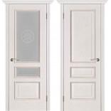 дверь Вена белая патина тон 17 фабрики Вист